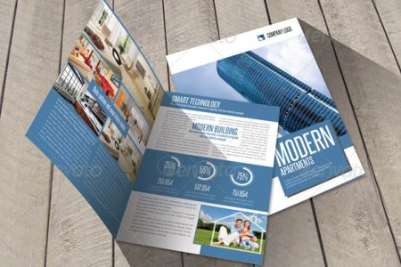 24 Cool Construction Brochure Templates     Desiznworld Modern Construction Bifold Brochure Template