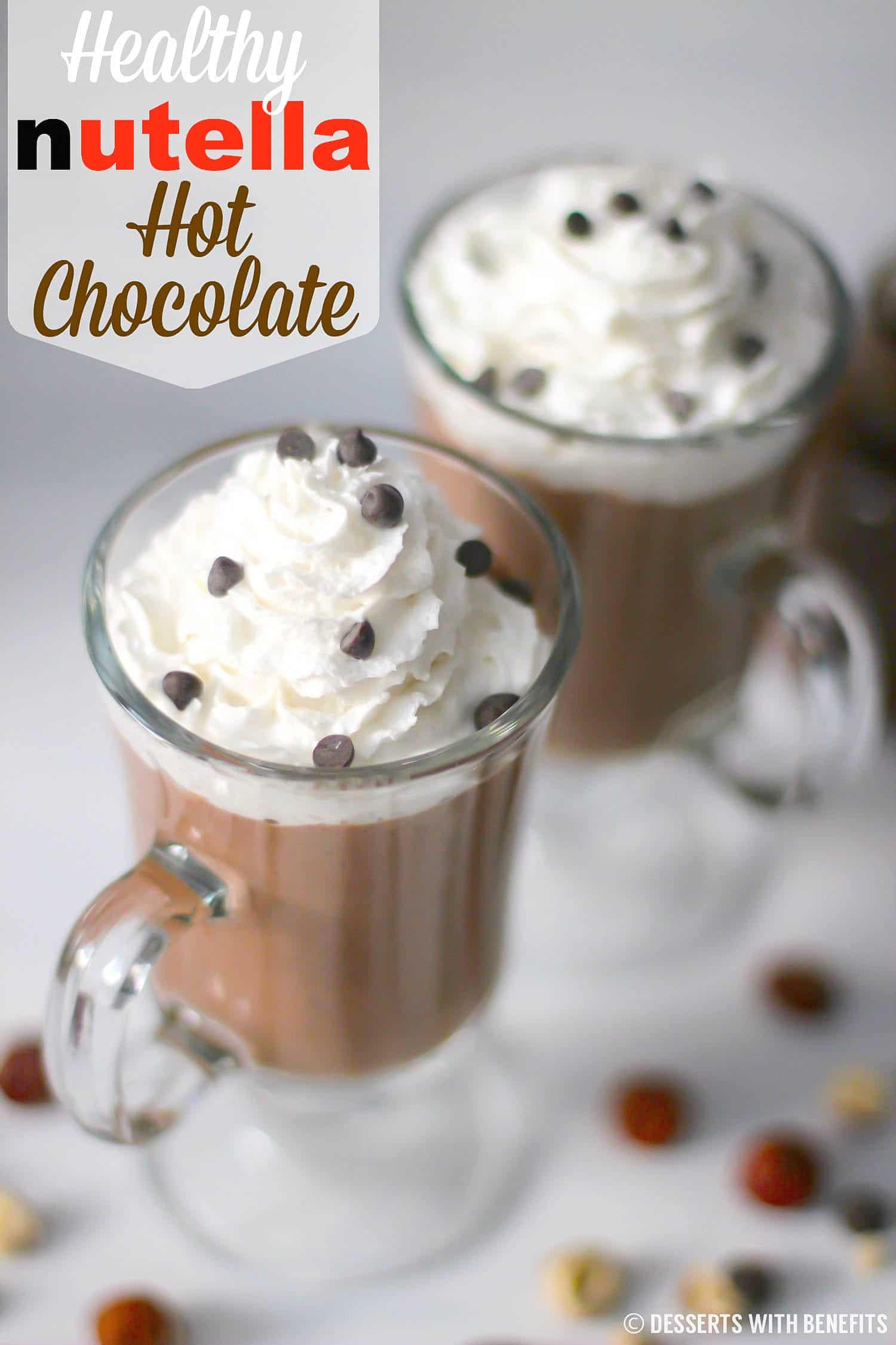 Healthy Nutella Hot Chocolate Sugar Free Low Carb Vegan