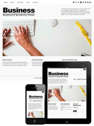 Free Business WordPress Theme 2018 - Dessign Themes