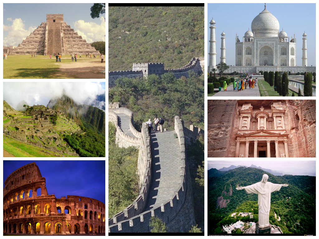 the seven wonders of the world - HD 1024×768