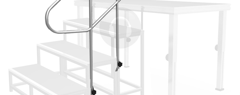 2 3M Lightweight Portable Stage Step Stair Handrail | Portable Stairs With Railing