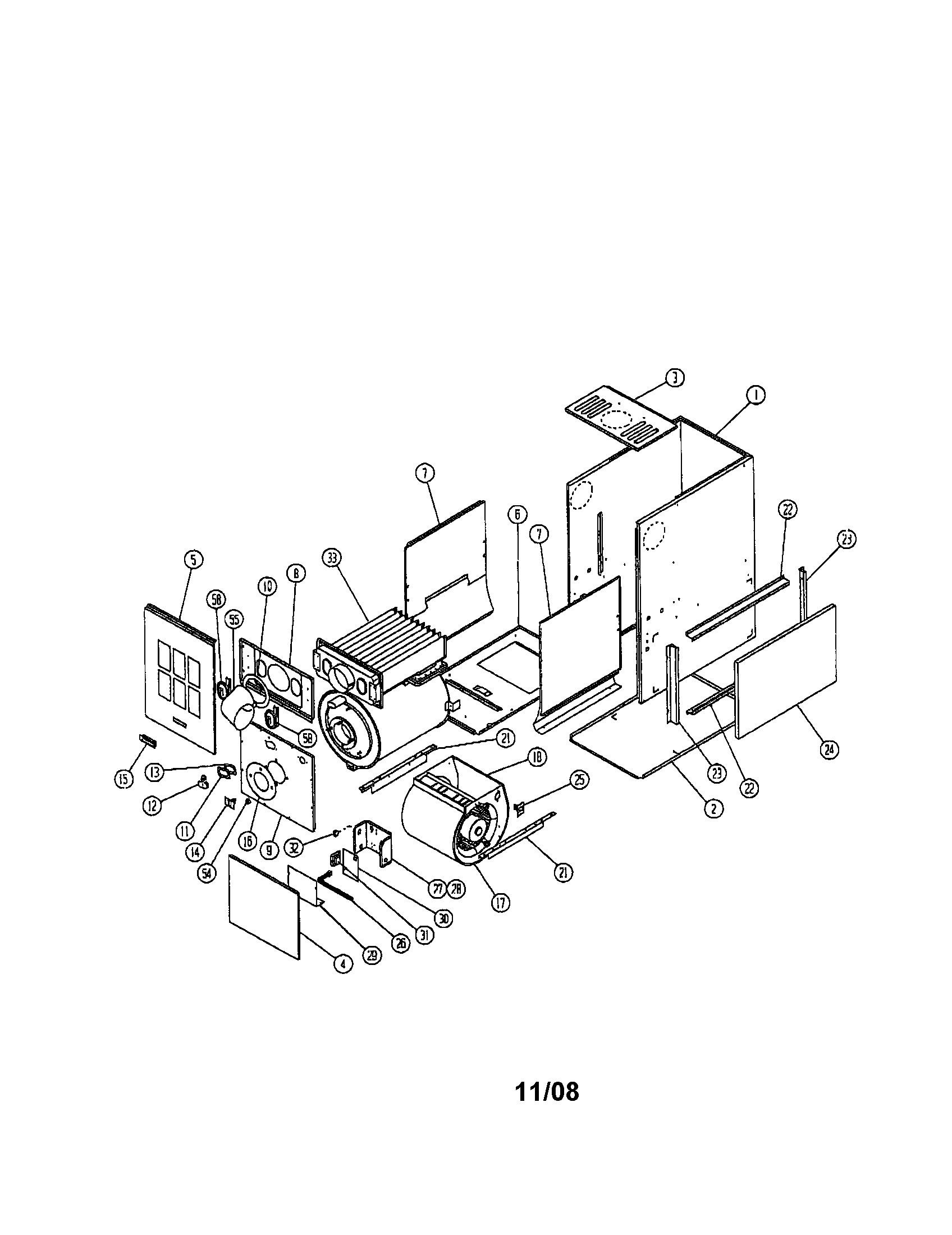 Beckett burner parts diagram ducane upflow horizontal oil furnace 1 3 hp parts of beckett burner