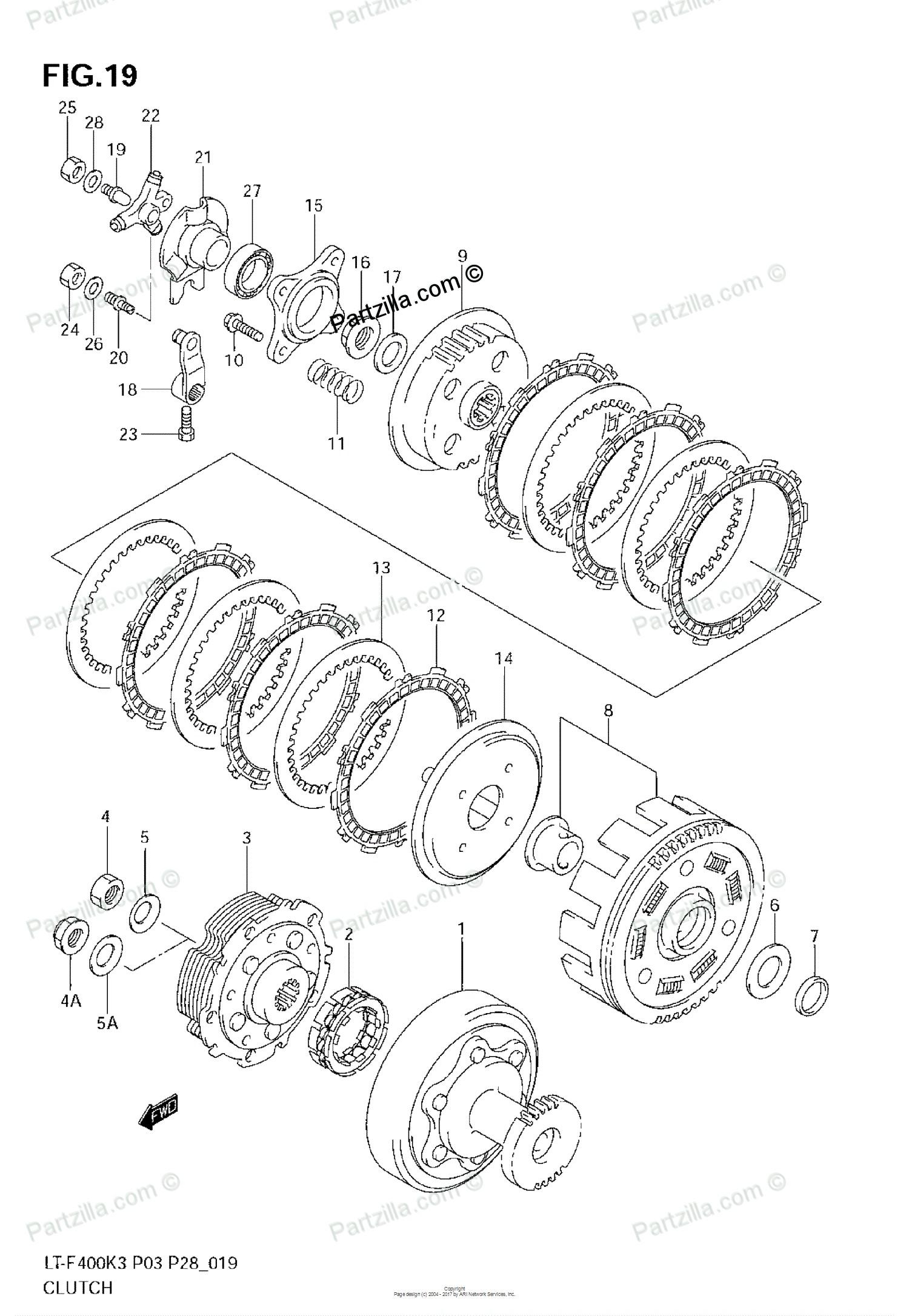 Clutch parts diagram suzuki atv 2004 oem parts diagram for clutch model k3 partzilla