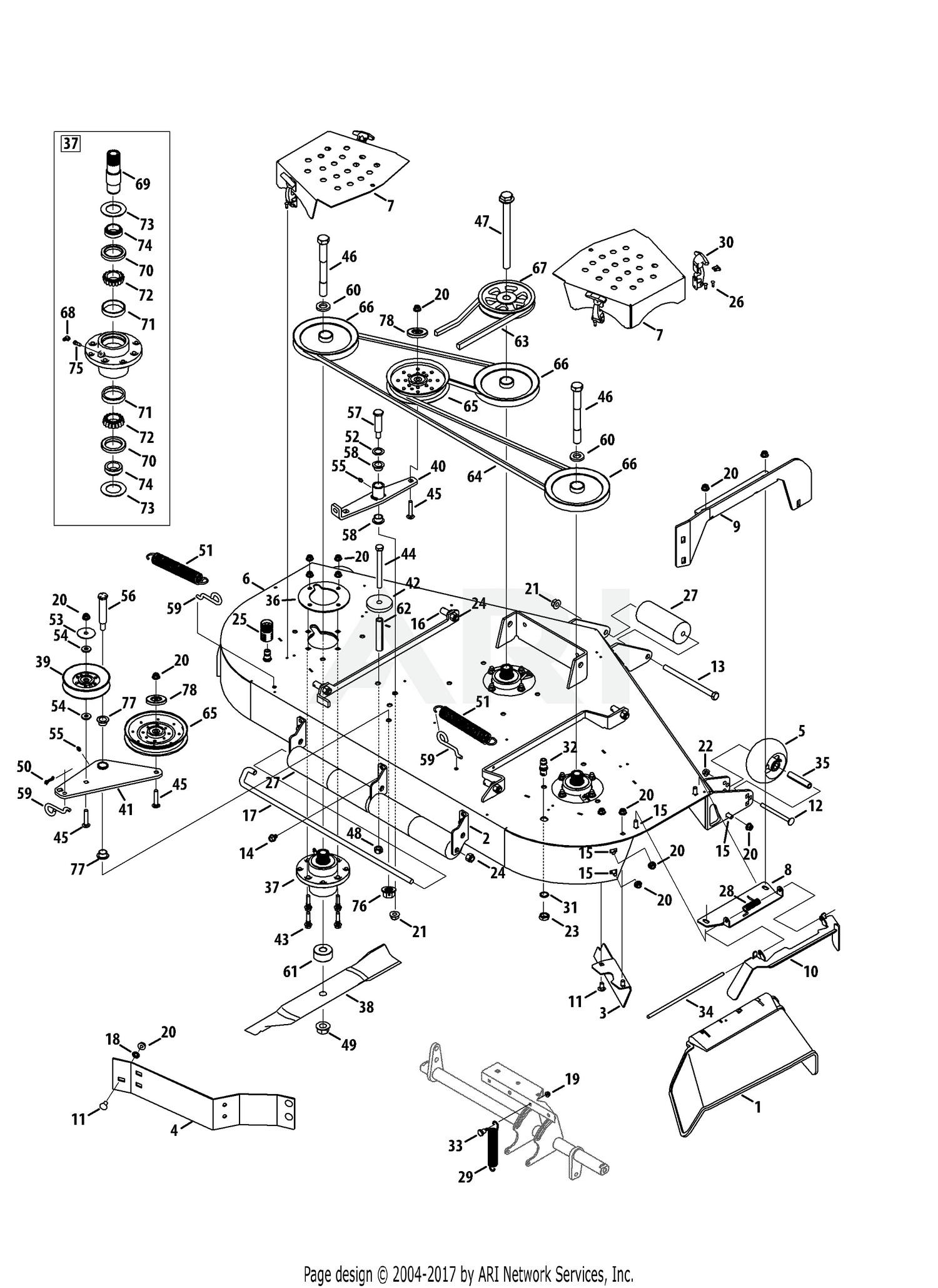 Cub cadet mower deck parts diagram cub cadet parts diagrams cub cadet tank lz 60kw 2013