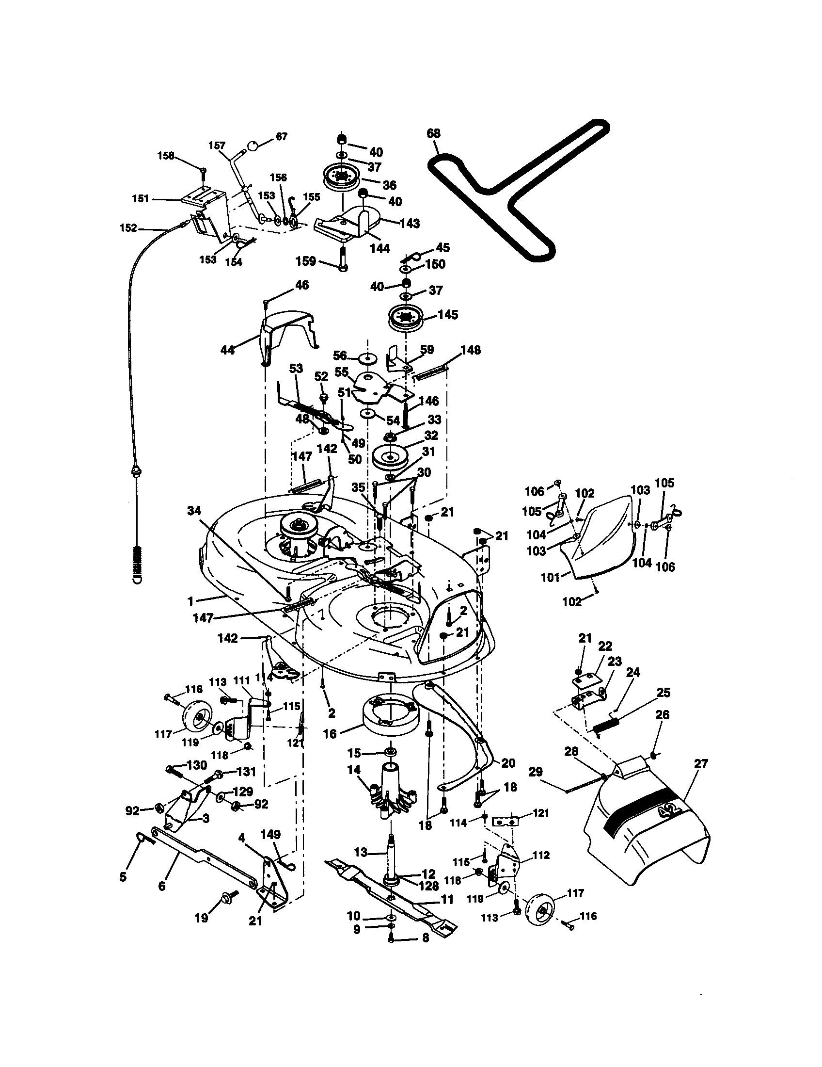 Diagram of lawn mower engine craftsman model lawn tractor genuine parts of diagram of lawn mower