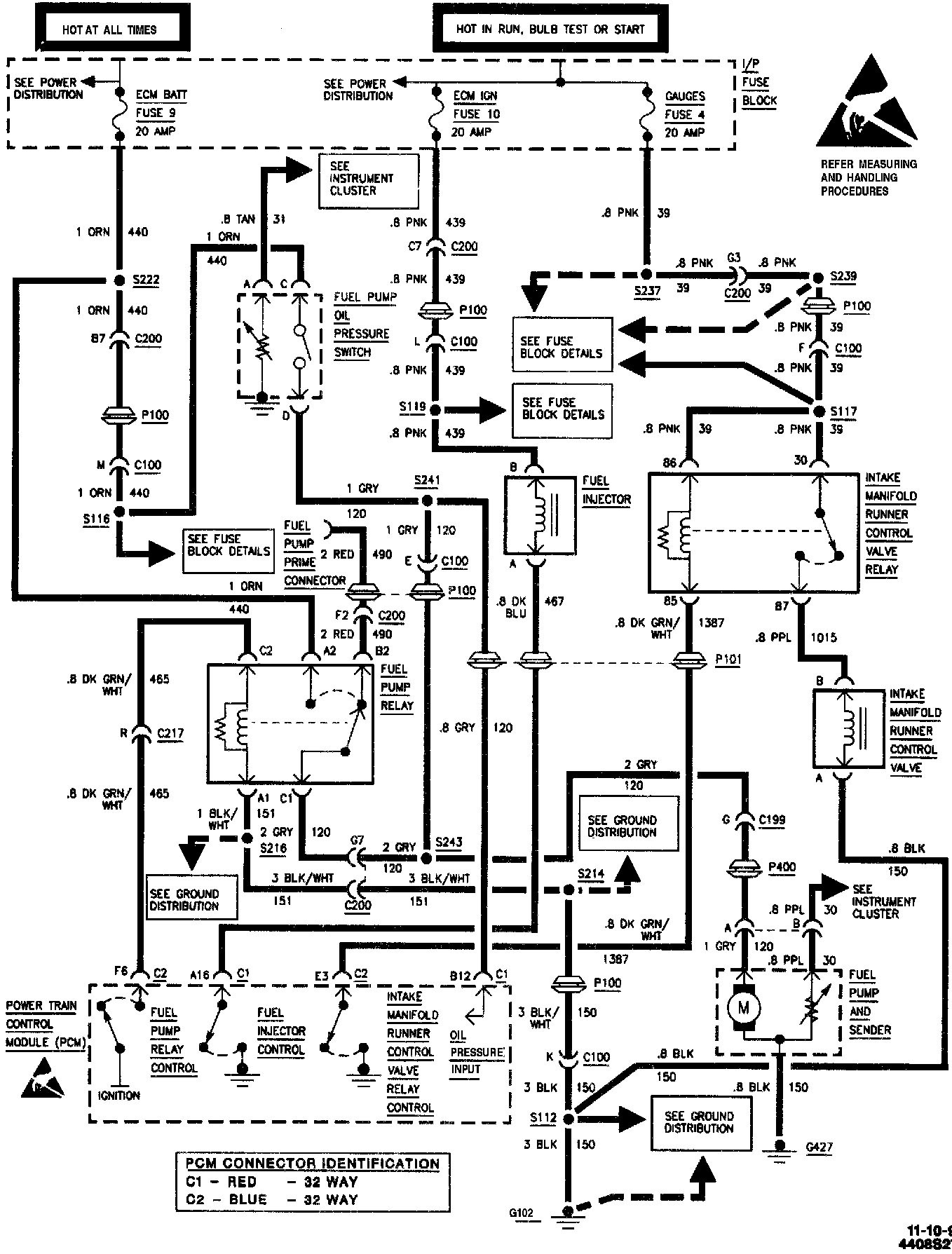 Wiring diagram for an electric fuel pump and relay 98 ls1 to 94