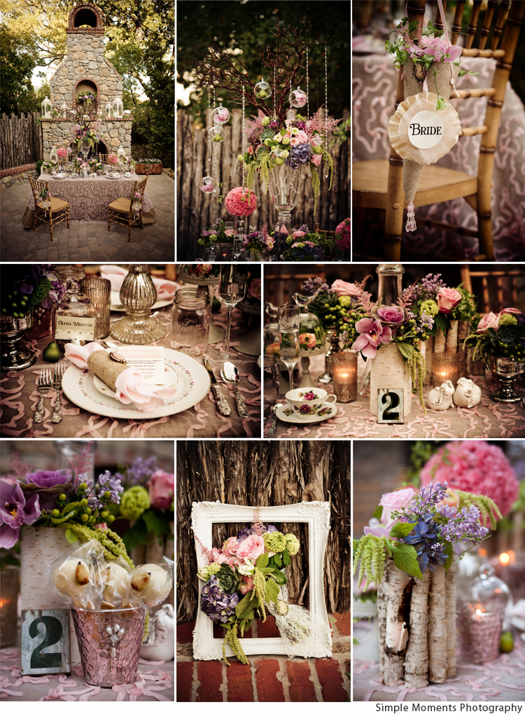 Country Chic Meets Vintage Glam
