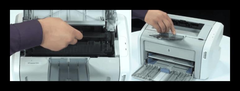 Instalación del cartucho de la impresora