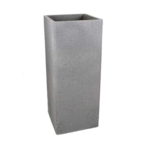 36 In  Tall Square Fiberclay Outdoor Planter Pot by Le Present   LE         36 In  Tall Square Fiberclay Outdoor Patio Planter Pot available in  Cream Grey or Anthracite