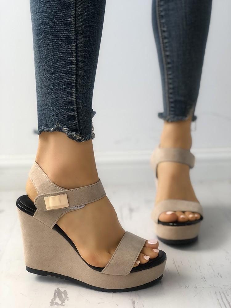 Size Wedge 5 Clear Sandals High Color Heel