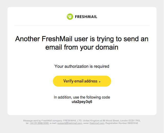 Fresh Address Email Validation