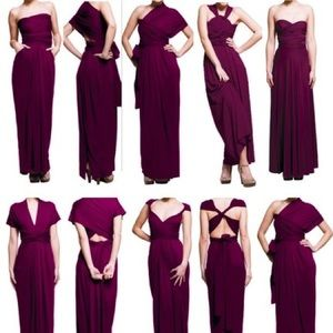 Dresses   Burgundy Infinity Dress With Bandeau   Poshmark Dresses   Burgundy infinity dress with bandeau