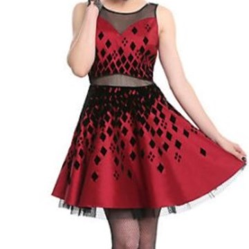 Hot Topic Dresses   Harley Quinn Formal Dress W Cut Out Details Sm             Harley Quinn Formal Dress w  Cut Out Details SM