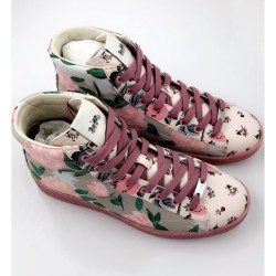 f200378c77b Coach High Top Floral Sneakers Nwt
