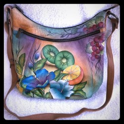 Painted Leather Purse Flowers   Gardening  Flower and Vegetables 90c89c0ed1