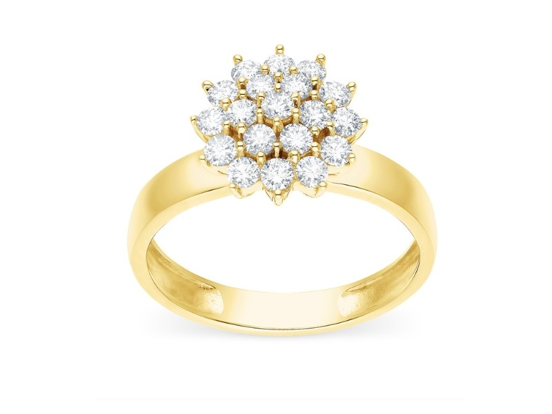 Bague de fiancailles diamant Bague chou diamants Bague chou diamants en or jaune