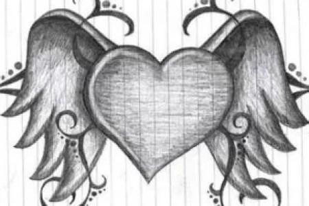best Corazones Con Alas De Angel Y Demonio Para Colorear image ...