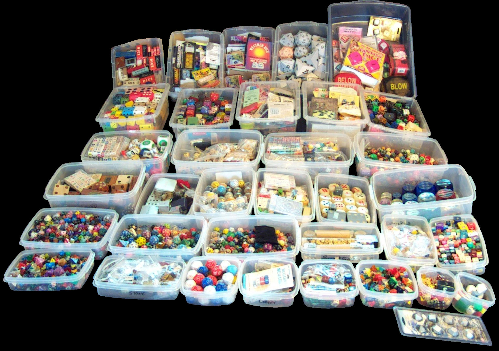 DiceCollector com s HOW THE COLLECTION IS HOUSED CONTAINERS 6 OLD SHELVES  Dice   CONTAINERS 7 MOST OF THE COLLECTION