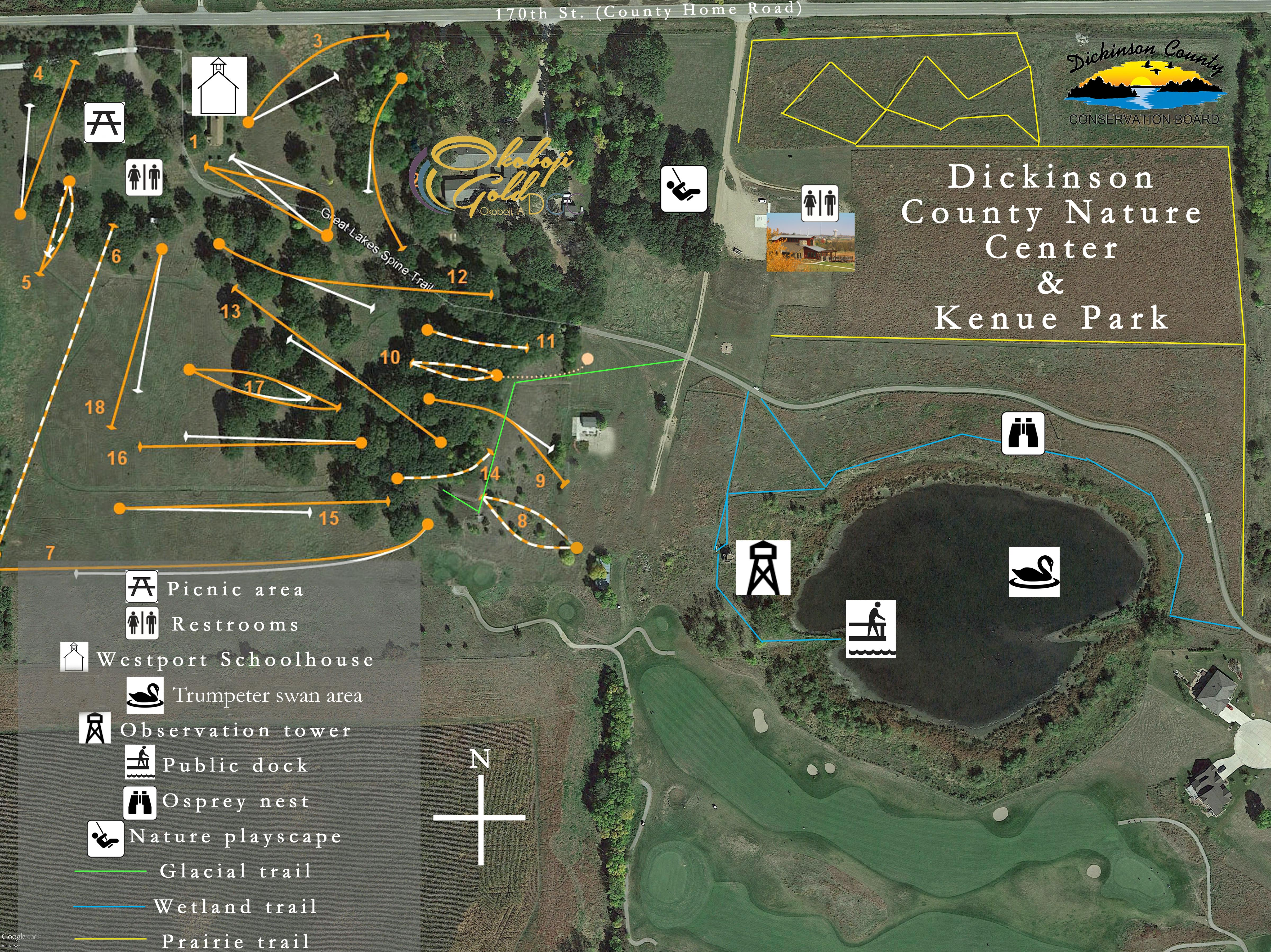 Dickinson County Nature Center     Dickinson County Conservation Board Map of Kenue Park