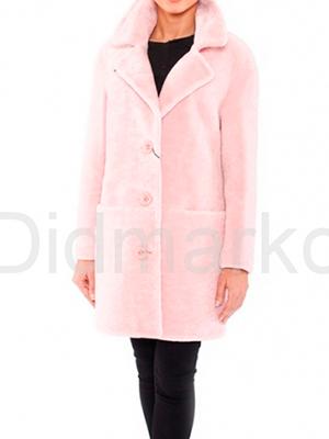 Růžový kožich z astragan
