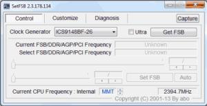 SetFSBを使用してプロセッサをオーバークロックする方法