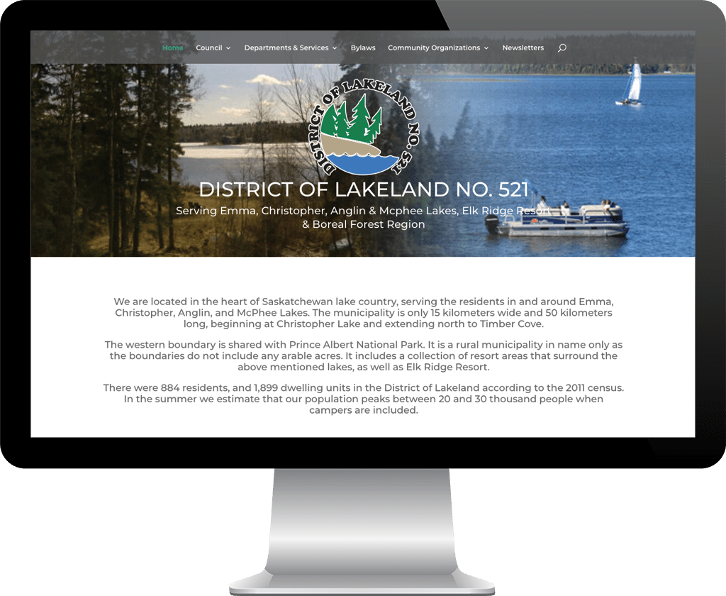 RM district of Lakeland / Web Designer Portfolio