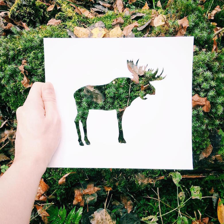 Russian Artist Uses Beautiful Backdrops Of Nature To Fill
