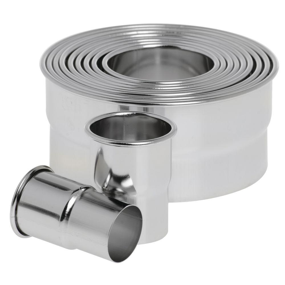 HUBERT® Round Stainless Steel Plain Pastry Cutter Set