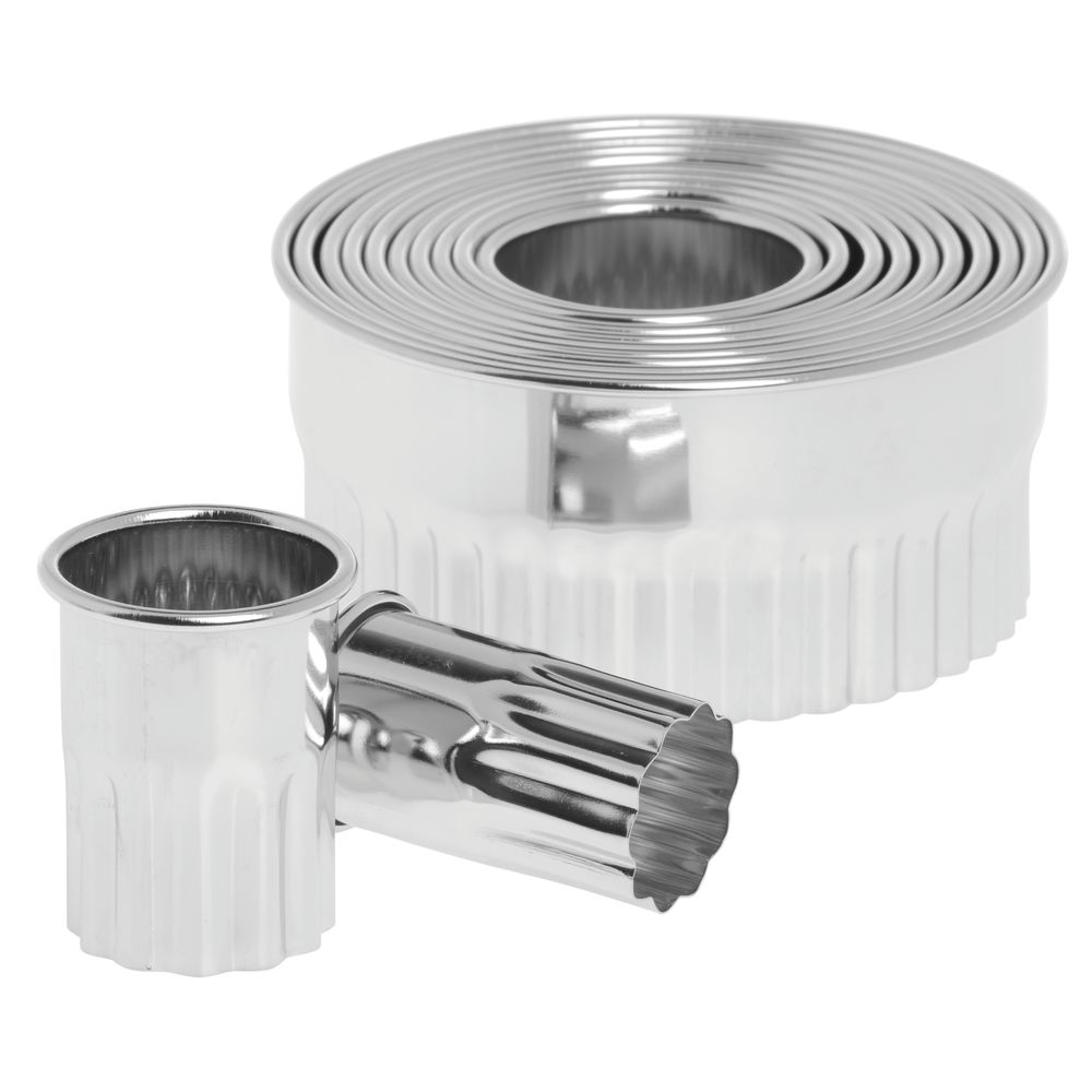 HUBERT® Round Stainless Steel Serrated Pastry Cutter Set
