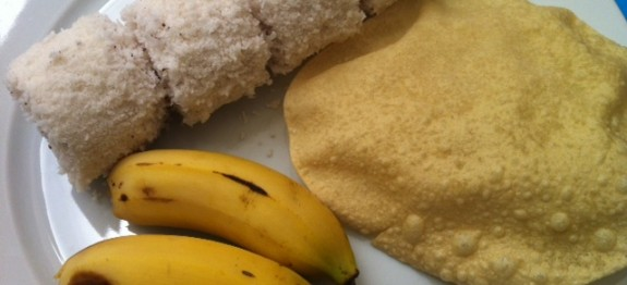 Puttu Steamed Rice Cake Layered With Coconut How To Cook