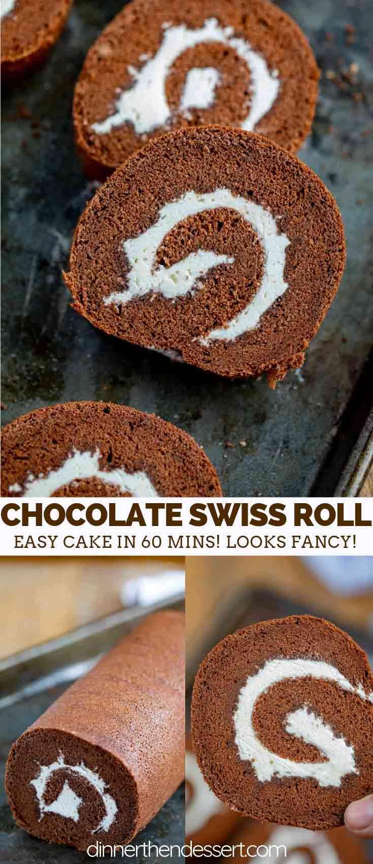 Chocolate Cake Roll Swiss Roll Dinner Then Dessert