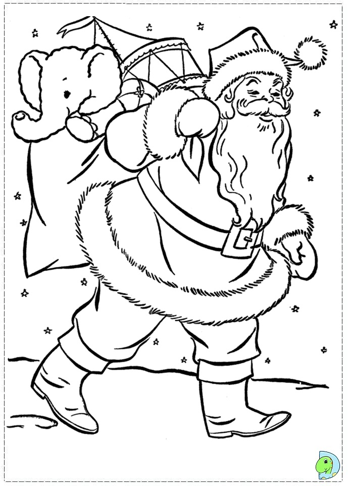 coloring printable santa suit