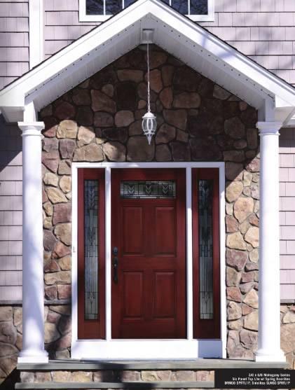 Entry Prehung 6 Panel Top Lite Fiberglass Door With 2