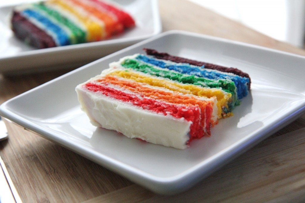 Easy Rainbow Cake Recipe From Scratch