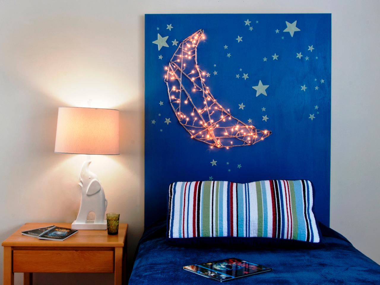 How to Make a Kid s Headboard With Built In Nightlights   how tos   DIY How to Make a Kid s Headboard With Built In Nightlights