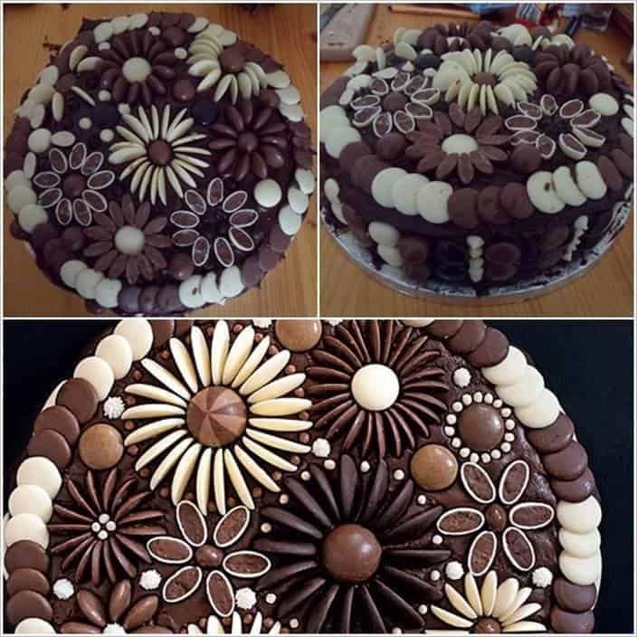 Chocolate Button Cake Decorating Ideas