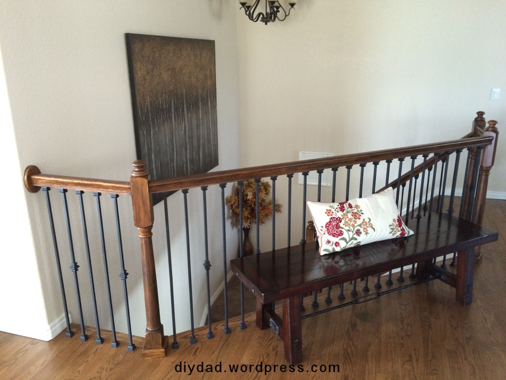 Replacing Wood Balusters With Wrought Iron Sort Of Diy Dad | Replacing Wood Spindles With Metal | Stair Spindles | Iron Stair Balusters | Stair Parts | Stair Railing | Staircase