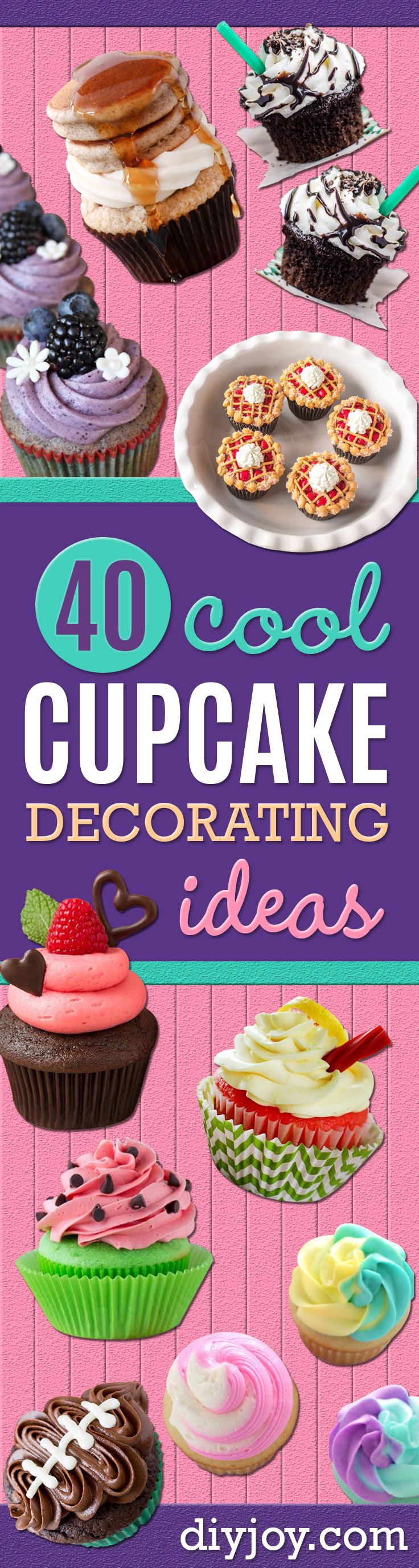 40 Cool Cupcake Decorating Ideas Cool Cupcake Decorating Ideas   Easy Ways To Decorate Cute  Adorable  Cupcakes   Quick Recipes