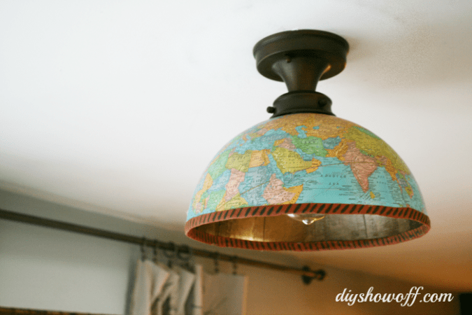 DIY Globe Light FixtureDIY Show Off            DIY Decorating and Home     globe ceiling light cover