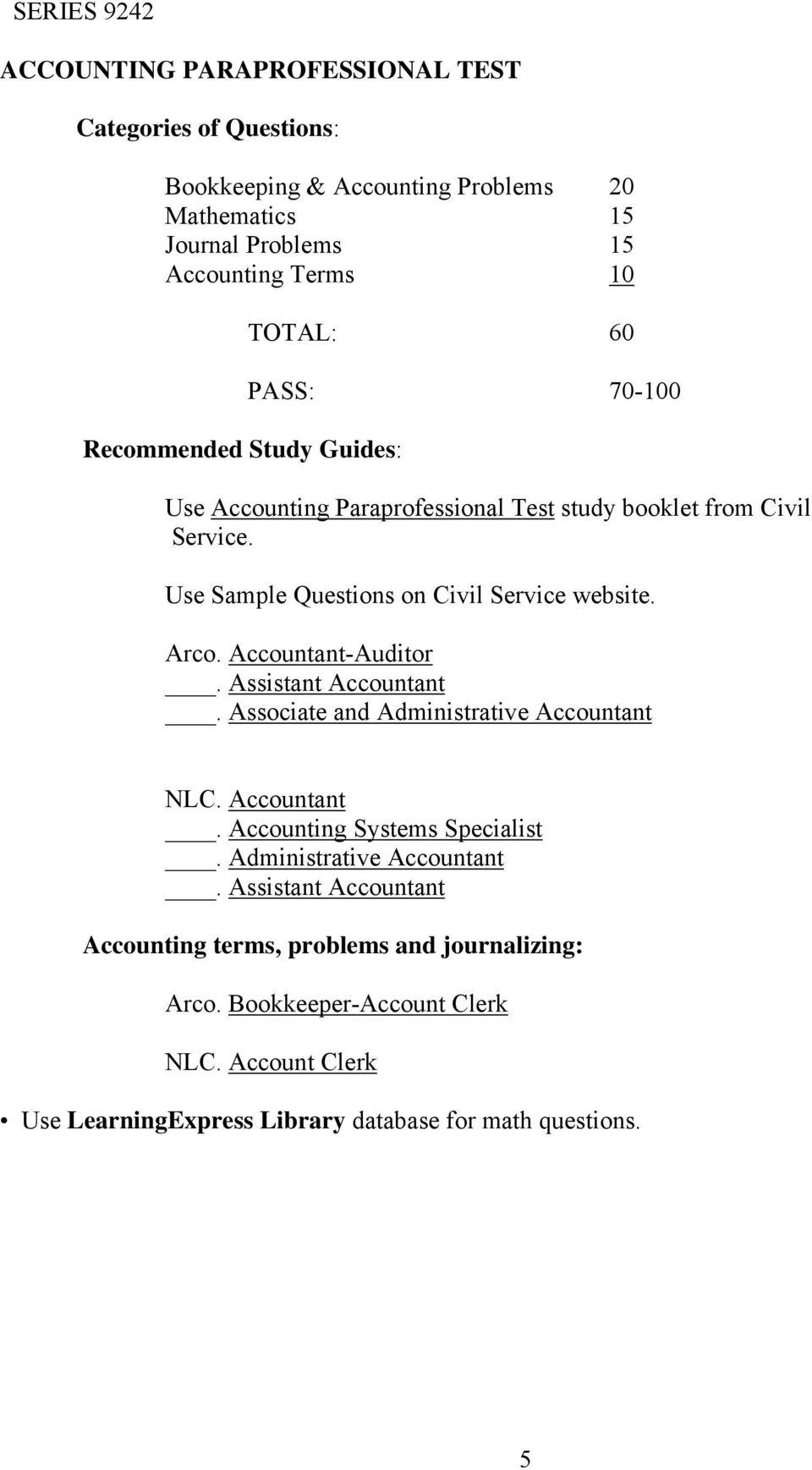 arco civil service test guide
