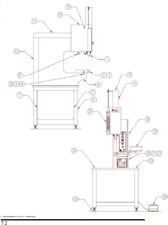 3 main assembly item part no description qty h upper tool holder 1 h lower tool holder m16 x main frame left right side covers base frame weldment