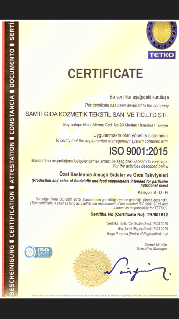 Certificare ISO:22000:2005