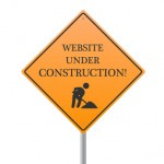 Image of a Website Under Construction sign isolated on a white background.