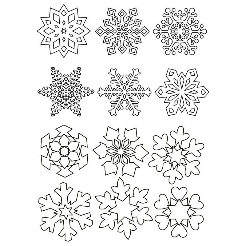 Snowflakes on windows for printing