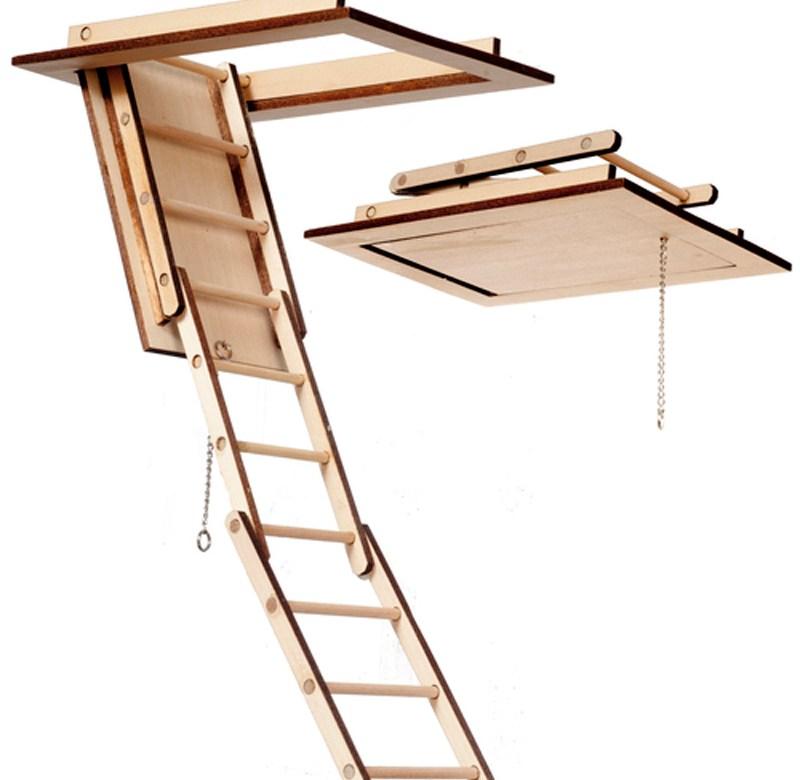 Miniature 1 12 Scale Working Folding Attic Stairs 648260952426 Ebay   Folding Attic Stairs With Handrail   Attic Remodel   Attic Renovation   Ceiling   Stira   Rainbow F2260