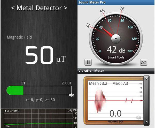 Buscar cableado con un teléfono y teléfono inteligente con un detector de metales