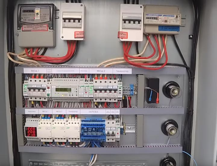 AVR för två ingångar i huset och generatorn
