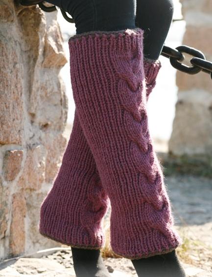 Leggings féminins tricotés avec oblique