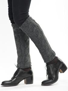 Leggings gris pour femmes strictes avec des tresses