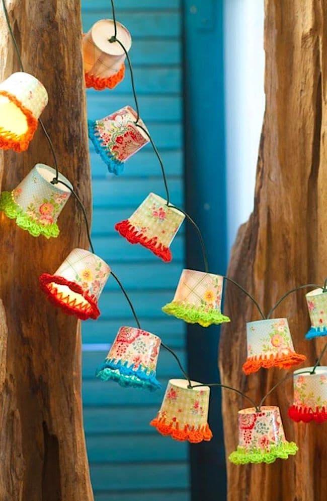 Кәдімгі қағаздан жасалған қолмен жасалған таңғажайып шамдар